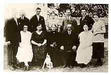 Die Familie des Bauern Friedrich Melchien und seiner Frau Amalie 1925