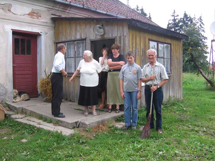 Zu Besuch bei Fam Wojnicz ehem Hof August Ferber